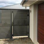 1x1 aluminum horizontal slat fence