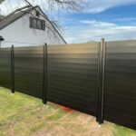"""1"""" x 5"""" aluminum horizontal slat fence"""