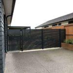 "1"" x 1"" horizontal slat fence"