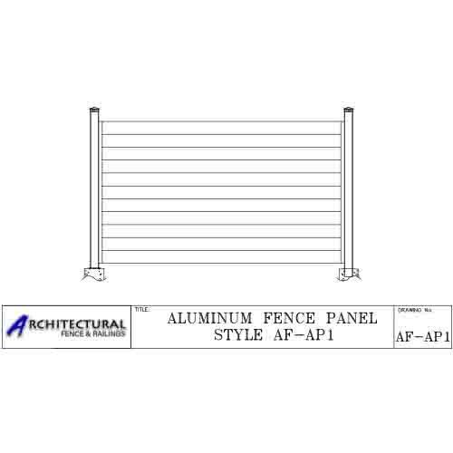 aluminum horizontal fence
