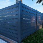 1x5 aluminum horizontal slat fence