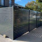 1x3 aluminum horizontal slat fence