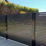 aluminum horizontal slat fence