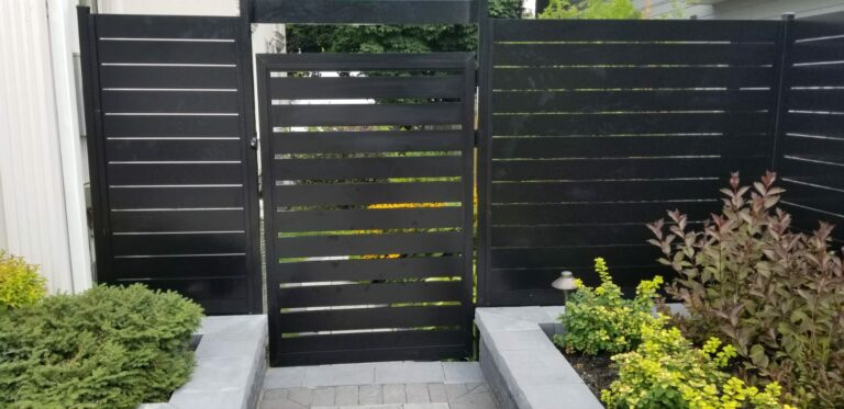 aluminum slat fence british columbia
