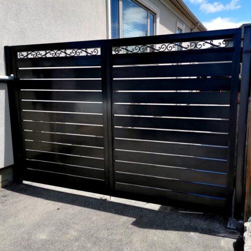 aluminum slat fence california