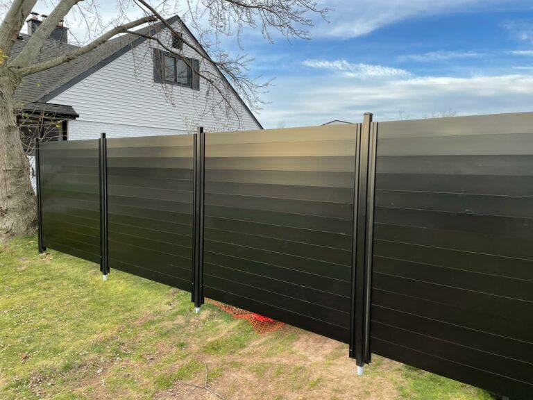 aluminum slat fence burlington