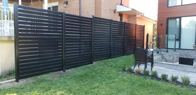 aluminum slat fence texas