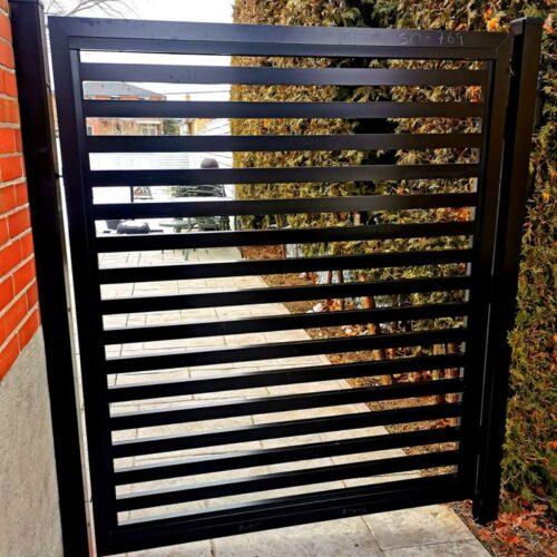 aluminum slat fence markham